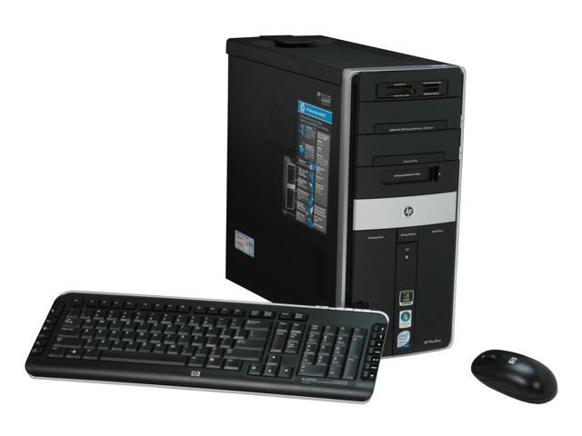HP Desktop PC Pavilion Elite M9250F(KJ382AA) Core 2 Quad Q6700 (2.66 GHz) 4 GB DDR2 1 TB HDD NVIDIA GeForce 8600 GT Windows Vista Home Premium 64-bit
