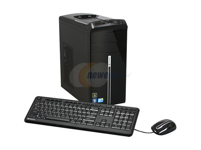 Gateway Desktop PC DX Series DX4822-03 Core 2 Quad Q8400 (2.66 GHz) 8 GB DDR2 1 TB HDD NVIDIA GeForce GT 220 Windows 7 Home Premium 64-bit