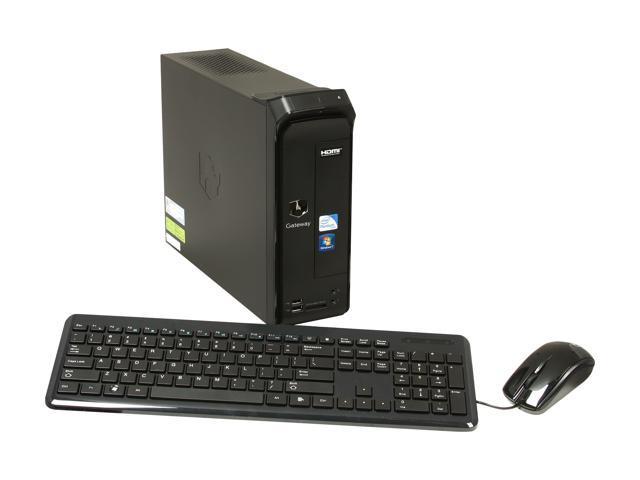 Gateway Desktop PC SX Series SX2865-UR11P (DT.GDLAA.002) Pentium G630 (2.70 GHz) 4 GB DDR3 500 GB HDD Windows 7 Home Premium 64-Bit