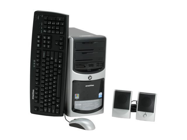 eMachines Desktop PC T5088 Pentium 4 641 (3.2 GHz) 512 MB DDR2 160 GB HDD Intel GMA 950 Windows Vista Home Basic