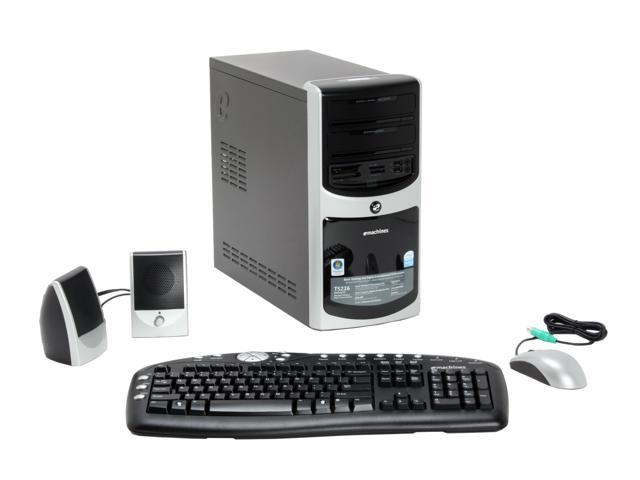 eMachines Desktop PC T5226 Pentium D 925 (3.00 GHz) 1 GB DDR2 250 GB HDD Intel GMA 950 Windows Vista Home Premium