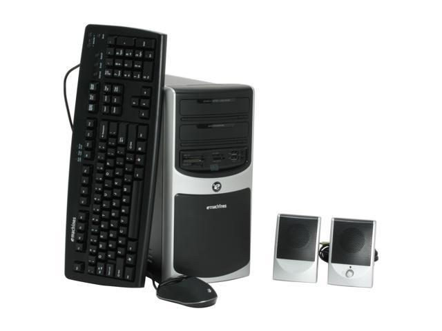 eMachines Desktop PC W3609 - RA Celeron D 356 (3.33 GHz) 512 MB DDR2 120 GB HDD Windows Vista Home Basic