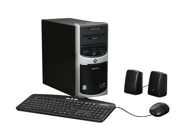 eMachines Desktop PC ET1161-05 Athlon LE-1620 (2.4 GHz) 2 GB DDR2 160 GB HDD NVIDIA GeForce 6150 SE Windows Vista Home Basic