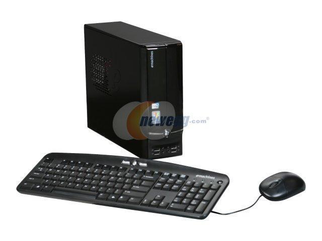 eMachines Desktop PC EL1600-01 Intel Atom 230 (1.6 GHz) 1 GB DDR2 160 GB HDD Intel GMA 950 Windows XP Home