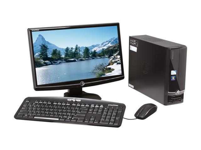 eMachines Desktop PC EL1850G-42W (PV.NCK02.001) Celeron E3400 (2.60 GHz) 2 GB DDR3 320 GB HDD Intel GMA X4500HD Windows 7 Home Premium