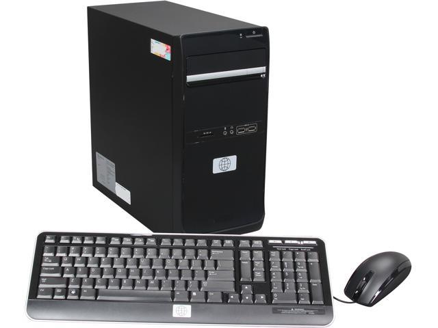 Black HEAVY METAL Desktop PC for Metalheads with Pentium G465 1.9GHz 4GB DDR3 500GB HDD and Windows 8 (VDD-128)