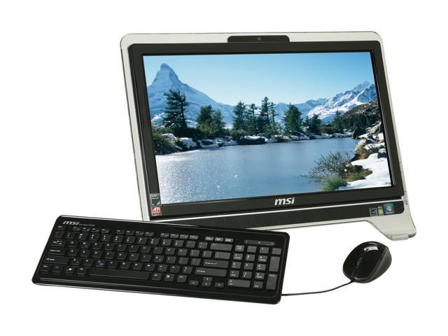 MSI All-in-One PC AE2010-234US Athlon X2 3250e (1.5 GHz) 4 GB DDR2 640 GB HDD 20