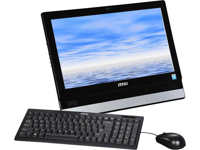 MSI All-in-One PC Adora20 2BT-009US Celeron J1900 (2.00 GHz) 4 GB DDR3L 500 GB HDD 19.5