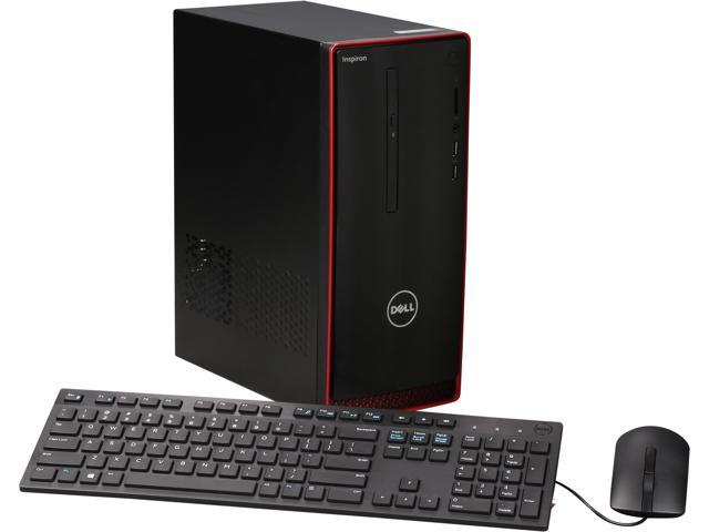 DELL Desktop Computer Inspiron i3656-8022RED FX-8000 Series FX-8800P (2.10 GHz) 16 GB DDR3 2 TB HDD AMD Radeon R9 360 2 GB Windows 10 Home 64-Bit