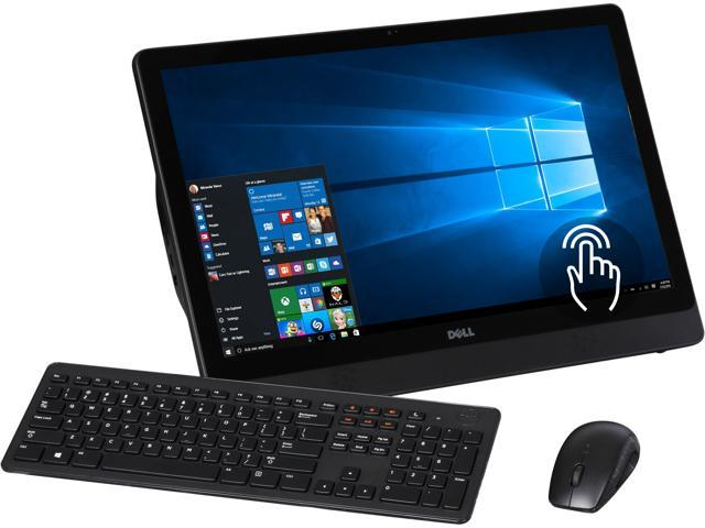 DELL All-in-One Computer Inspiron i3455-6041BLK A6-Series APU A6-7310 (2.00 GHz) 4 GB DDR3 500 GB HDD 23.8