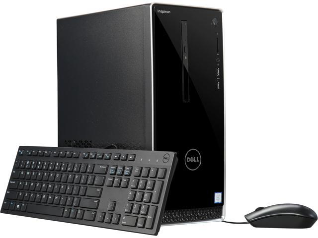 DELL Desktop Computer Inspiron 3650 i3650-1551SLV Intel Core i3 6th Gen 6100 (3.70 GHz) 8 GB DDR3L 1 TB HDD Intel HD Graphics 530 Windows 10 Home 64-Bit
