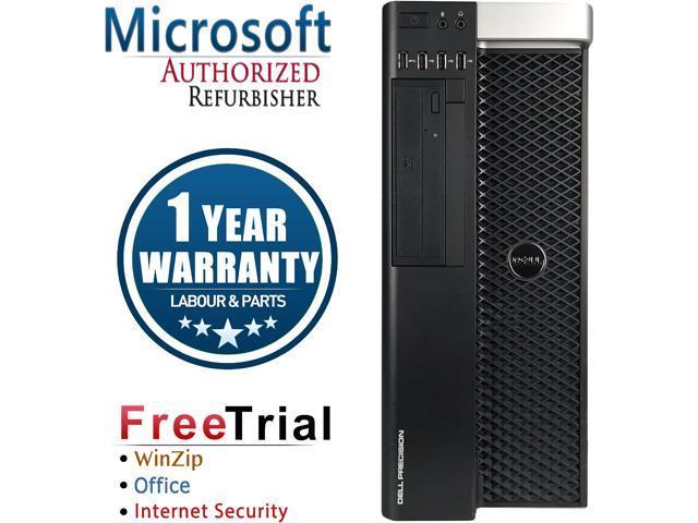 DELL Desktop Computer Precision T3600 Intel Xeon E5-1603 (2.8 GHz) 8 GB DDR3 2 TB HDD NVIDIA NVS 300 Windows 10 Pro