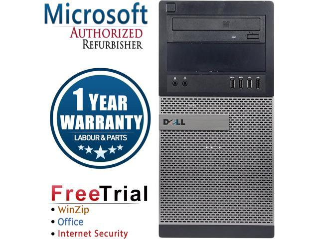 DELL Desktop Computer OptiPlex 9010 Intel Core i7 3rd Gen 3770 (3.40 GHz) 8 GB DDR3 1 TB HDD Windows 7 Professional