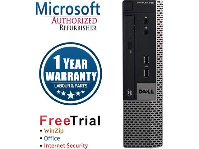 Refurbished Dell OptiPlex 790 USFF Intel Core I5 2400S 2.5G / 4G DDR3 / 500G / DVD / Windows 10 Professional / 1 Year Warranty