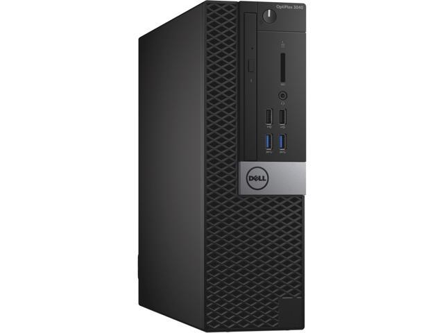 Dell Optiplex 3040 Intel Core i3-6100 X2 3.7GHz 16GB 512GB SSD Win10, Black (Certified Refurbished)