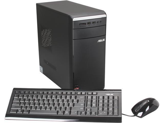 ASUS Desktop PC M11BB-US002S A10-Series APU A10-6700 (3.70 GHz) 16 GB DDR3 3 TB HDD AMD Radeon HD 8670D Windows 8