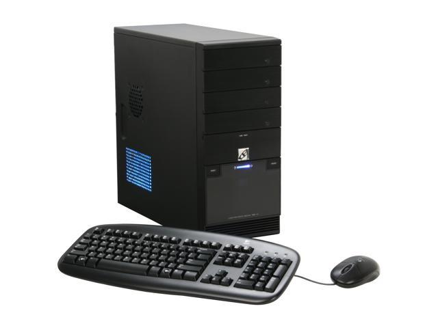 CyberpowerPC Desktop PC Gamer Infinity 3300 Core 2 Quad Q6600 (2.40 GHz) 4 GB DDR2 500 GB HDD Intel GMA 3100 Windows Vista Home Premium