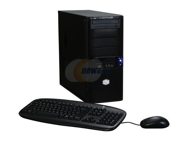 CyberpowerPC Desktop PC Gamer Infinity 6322 Core 2 Quad Q6600 (2.40 GHz) 4 GB DDR2 250 GB HDD Windows Vista Home Premium 64-bit