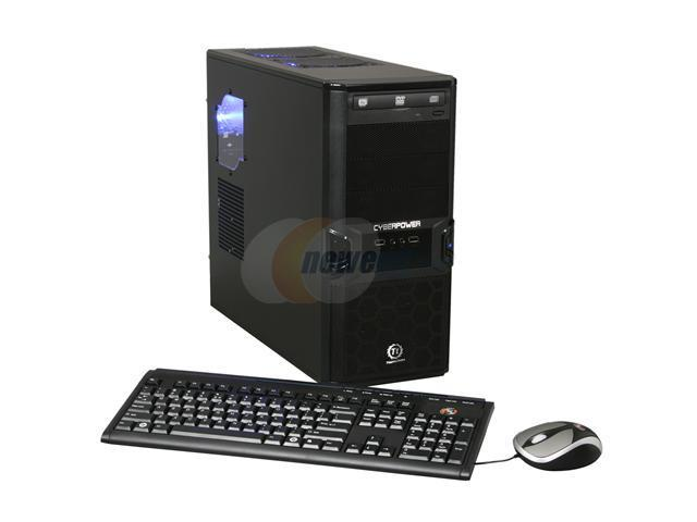 CyberpowerPC Desktop PC Gamer Xtreme 1050 Intel Core i5 750 (2.66 GHz) 4 GB DDR3 1 TB HDD Windows 7 Home Premium 64-bit