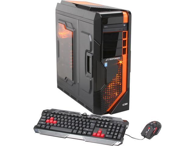 CyberpowerPC Desktop PC Zeus EVO Thunder 300 (ZET300LQ) Intel Core i7 4770K (3.50 GHz) 16 GB DDR3 2 TB HDD AMD Radeon HD 7870 2GB Windows 7 Home Premium 64-Bit