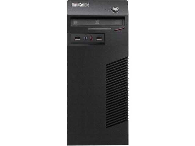 Lenovo ThinkCentre 10B0000QUS Desktop Computer - Intel Core i3 i3-4130 3.40 GHz - Mini-tower - Business Black