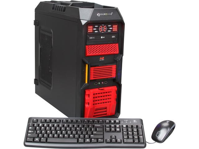CybertronPC Desktop PC Kombat-X (TGM4242A) AMD FX-Series FX-6100 (3.3 GHz) 16 GB DDR3 1 TB HDD Dual AMD Radeon HD 6670 1GB Windows 8 64-Bit