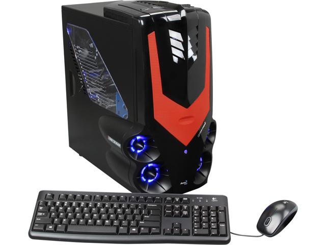 CybertronPC Desktop PC Syclone II (TGM4242K) AMD FX-Series FX-6100 (3.3 GHz) 16 GB DDR3 1 TB HDD Dual AMD Radeon HD 7750 1GB Windows 8 64-Bit