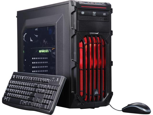 CybertronPC VR Ready Gaming Desktop Computer Palladium-1080X (Red) TGMPAL1080X26BR Intel Core i5 6th Gen 6500 (3.20 GHz) 16 GB DDR4 1 TB HDD NVIDIA GeForce GTX 1080 8 GB GDDR5X Windows 10 Home 64-Bit