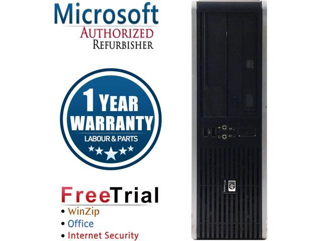 HP Desktop Computer DC5800-SFF Core 2 Quad Q8200 (2.33 GHz) 4 GB DDR2 320 GB HDD Intel GMA 3100 Windows 10 Pro