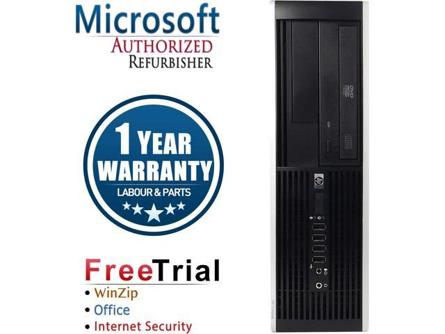 HP Desktop Computer Elite 8000-SFF Core 2 Quad Q8200 (2.33 GHz) 4 GB DDR3 500 GB HDD Intel GMA 4500 Windows 10 Pro