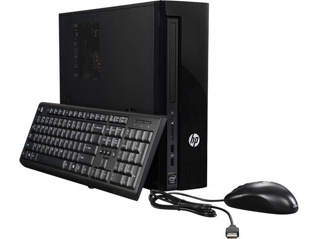 HP Desktop Computer Slimline 450-A114 Celeron J1800 (2.41 GHz) 4 GB 500 GB HDD Intel HD Graphics Windows 10 Home