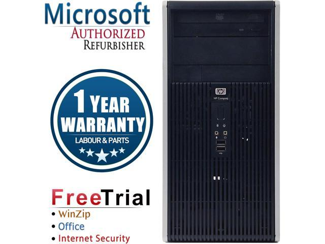 Refurbished HP Compaq DC5800 Tower Intel Core 2 Duo E8400 3.0G / 4G DDR2 / 320G / DVD / Windows 7 Professional 64 Bit / 1 Year Warranty