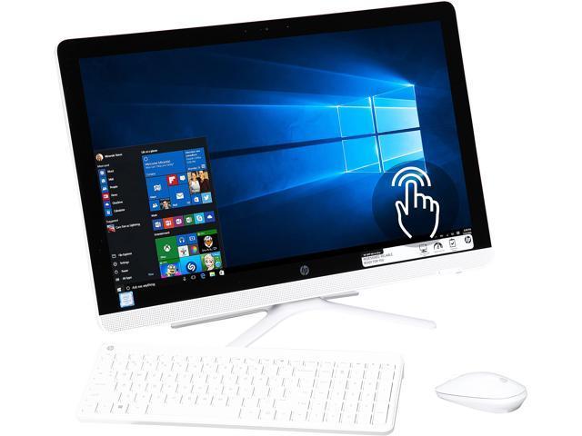 HP All-in-One Computer 24-g030 Intel Core i3 6th Gen 6100U (2.30 GHz) 4 GB DDR4 1 TB HDD 23.8