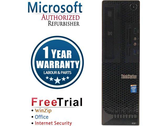 Lenovo Desktop Computer ThinkStation E32-SFF Xeon E3-1240 v3 (3.4 GHz) 8 GB DDR3 1 TB HDD NVIDIA Quadro K600 Windows 10 Pro