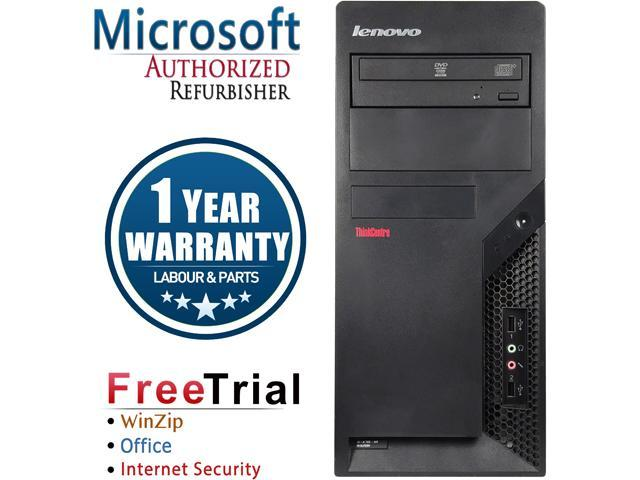 Refurbished Lenovo M58P Tower Intel Core 2 Quad Q6600 2.4G / 8G DDR3 / 2TB / DVDRW / Windows 7 Professional 64 Bit / 1 Year Warranty