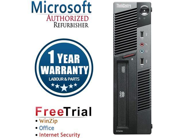 Refurbished Lenovo ThinkCentre M91P Desktop SFF Intel Core i5 2400 3.1G / 16G DDR3 / 1TB / DVD / Windows 7 Professional 64 Bit / 1 Year Warranty