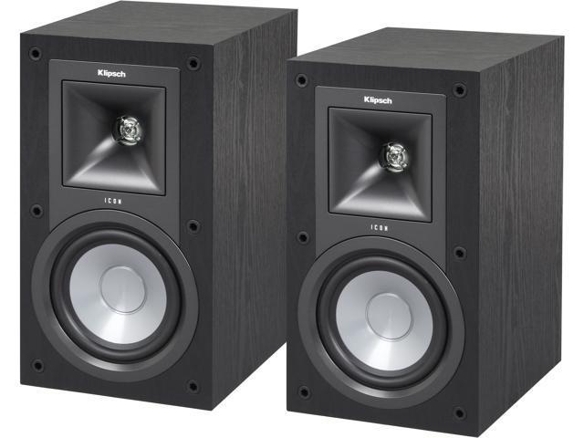 klipsch icon kb     bookshelf speaker pair neweggcom