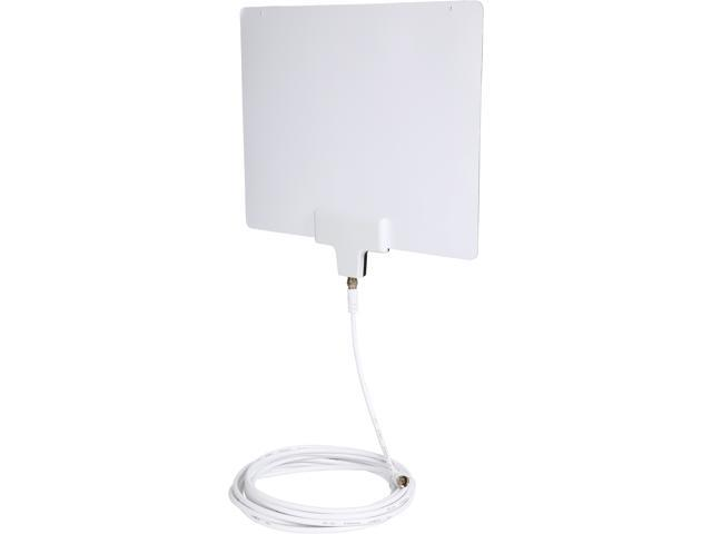 Rosewill RHTA-15004 Super Thin Digital UHF/VHF HDTV Antenna - Indoor antenna - Multi-directional Range up to 35 Miles, 15 Feet High Performance Coax Cable, Lightweight - Reversible, Paintable