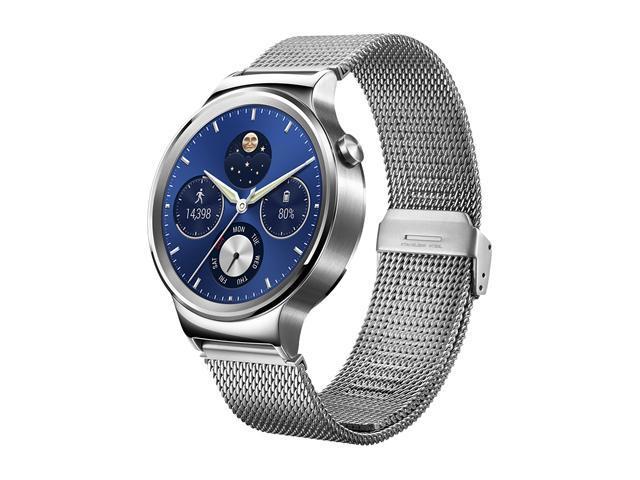 huawei smartwatch. huawei smart watch stainless steel with mesh band model 55020544 smartwatch w
