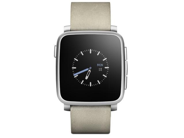 Pebble Time Steel Smartwatch for Apple and Android Devices - Silver