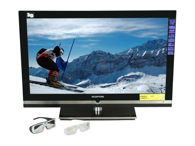"Sceptre 32"" Class (31.5"" Measured) 3-D Ready 1080p 60Hz 3D LED HDTV E320BV-FHDD"