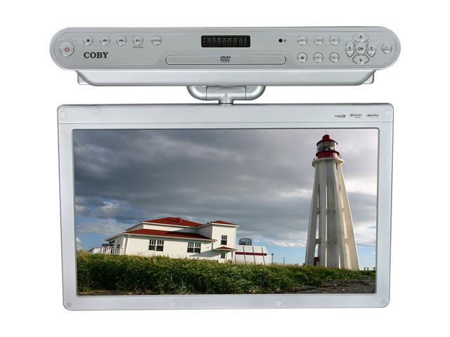 "COBY KTFDVD1560 15.6"" Silver Under-The-Cabinet LCD TV With Built-In DVD Player"