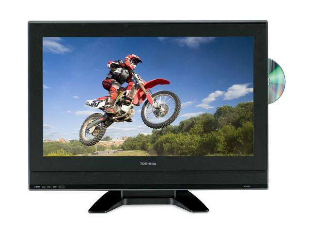 """TOSHIBA 23HLV87 23"""" Black 720p LCD HDTV With Built-In DVD Player"""
