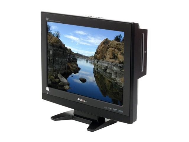 """Sansui HDLCDVD190 19"""" Black 720p LCD HDTV With Built-In DVD player"""