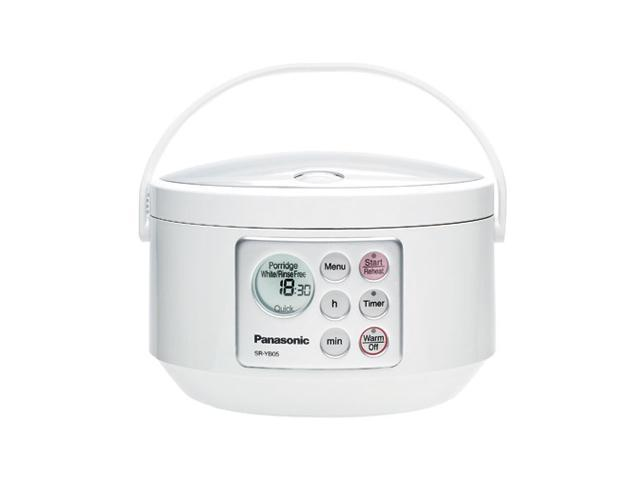 Panasonic SR-YB05P White 3 cups Rice Cooker w/Advanced Fuzzy Logic Technology