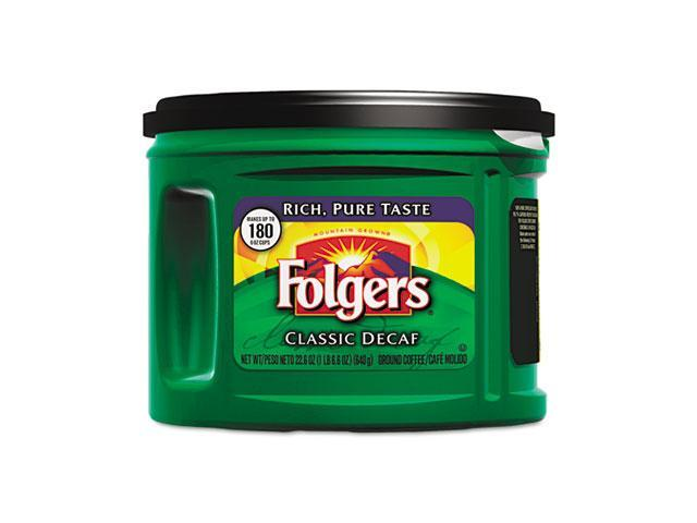 Folgers 00374EA Coffee, Classic Roast Decaffeinated, Ground, 22.6 oz. Can