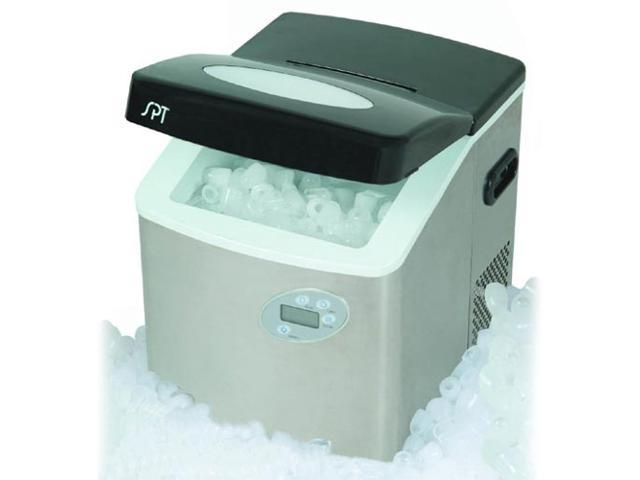 Sunpentown IM-101S Portable Ice Maker with Stainless Steel Body