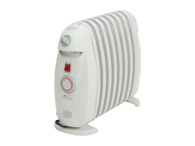 DeLonghi TRN0812T 1,200 Watt Portable Oil Filled Radiator Heater With Timer