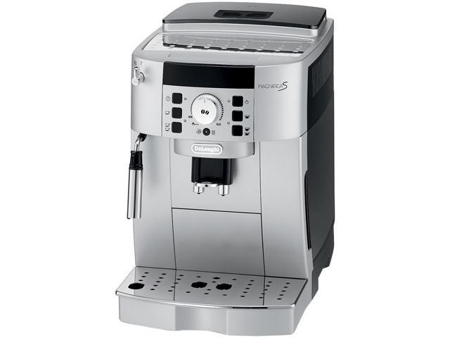 DeLonghi ECAM22110SB-X Silver and Black Compact Automatic Cappuccino, Latte and Espresso Machine