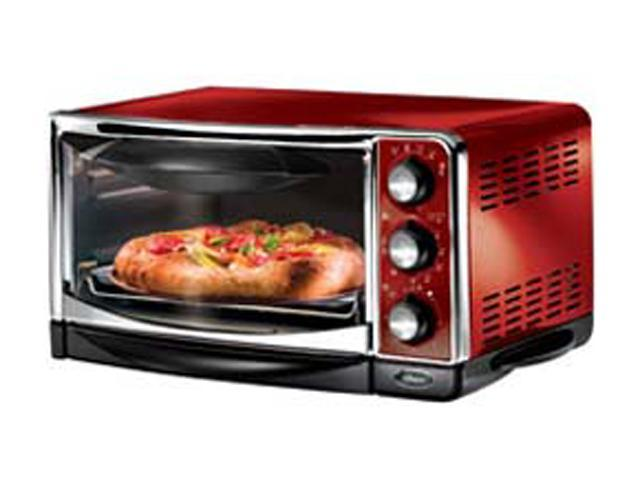 Oster 6295 Red 6 Slice Toaster Oven Newegg Com